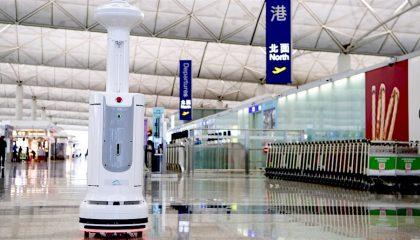 disinfection robotics in hong kong airport